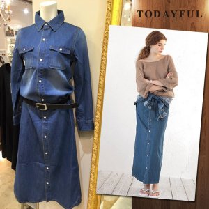 TODAYFUL �ȥ��ǥ��ե� Denim Shirts OP 11610312 ��16SS1�ۡڿ����<img class='new_mark_img2' src='http://diva-brandshop.com/img/new/icons11.gif' style='border:none;display:inline;margin:0px;padding:0px;width:auto;' />