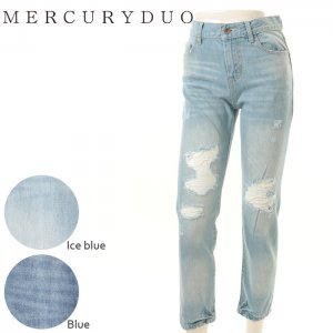 MERCURY マーキュリー 【DUO】 BoyFriendソフトダメージデニム 001610700301 【16SS1】【SALE】【20%OFF】<img class='new_mark_img2' src='//img.shop-pro.jp/img/new/icons20.gif' style='border:none;display:inline;margin:0px;padding:0px;width:auto;' />