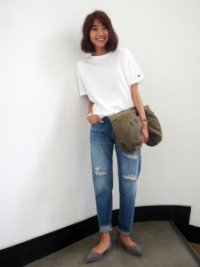 UNGRID アングリッド 【Casual】Champion刺繍ロゴTシャツ 111610668001 【16SS1】【人気商品】<img class='new_mark_img2' src='https://img.shop-pro.jp/img/new/icons31.gif' style='border:none;display:inline;margin:0px;padding:0px;width:auto;' />