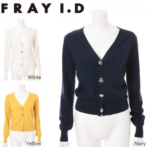 【SOLDOUT】FRAYID フレイアイディー ビジューカーデ FWNT161517 【16SS1】【50☆】<img class='new_mark_img2' src='//img.shop-pro.jp/img/new/icons47.gif' style='border:none;display:inline;margin:0px;padding:0px;width:auto;' />