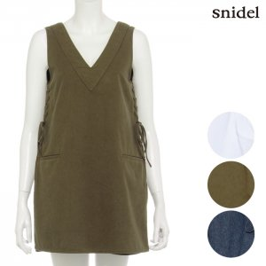 SNIDEL スナイデル スリットデニムトップス SWFB161135 【16SS1】【SALE】【40%OFF】<img class='new_mark_img2' src='https://img.shop-pro.jp/img/new/icons20.gif' style='border:none;display:inline;margin:0px;padding:0px;width:auto;' />