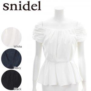 SNIDEL スナイデル ギャザーぺプラムBL SWFB161227 【16SS1】【SALE】【50%OFF】<img class='new_mark_img2' src='https://img.shop-pro.jp/img/new/icons20.gif' style='border:none;display:inline;margin:0px;padding:0px;width:auto;' />