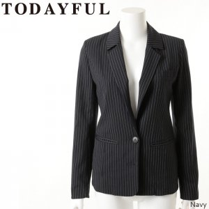 TODAYFUL トゥデイフル Herringbone Stripe JK ジャケット 11420117【14AW2】【SALE】【60%OFF】<img class='new_mark_img2' src='//img.shop-pro.jp/img/new/icons20.gif' style='border:none;display:inline;margin:0px;padding:0px;width:auto;' />