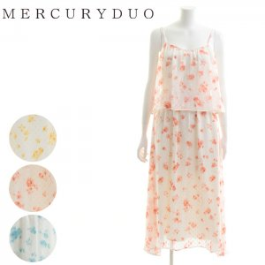 MERCURY マーキュリー 【DUO】 フラワードットBACKリボンロングOP 001620300401 【16SS2】【SALE】【50%OFF】<img class='new_mark_img2' src='//img.shop-pro.jp/img/new/icons20.gif' style='border:none;display:inline;margin:0px;padding:0px;width:auto;' />