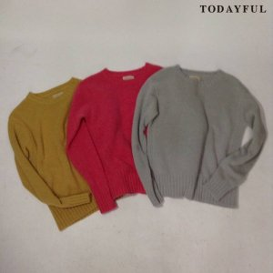 【SOLDOUT】TODAYFUL トゥデイフル Crewneck Angora Knit 11620538 【16AW2】 <img class='new_mark_img2' src='https://img.shop-pro.jp/img/new/icons47.gif' style='border:none;display:inline;margin:0px;padding:0px;width:auto;' />