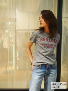 UNGRID アングリッド 【Casual】BROADENプリントTee 111620615601 【16SS2】【SALE】【20%OFF】<img class='new_mark_img2' src='//img.shop-pro.jp/img/new/icons20.gif' style='border:none;display:inline;margin:0px;padding:0px;width:auto;' />