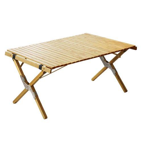 OUTPUT LIFEアウトプットライフWOOD ROLL TOP TABLE ウッド ロールトップテーブル[ シルバー/Sサイズ ]