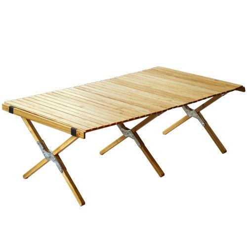 OUTPUT LIFEアウトプットライフWOOD ROLL TOP TABLE ウッド ロールトップテーブル[ シルバー/Lサイズ ]