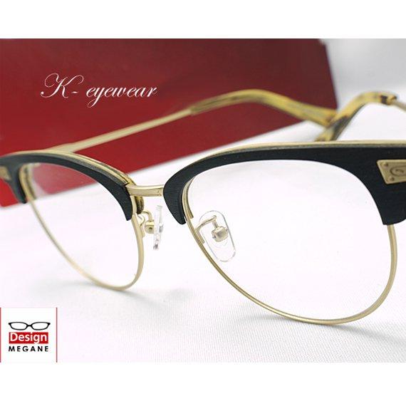 【メガネ通販】 K-Collection Handmade セル×メタル Black&gold 眼鏡一式 《今だけ送料無料》