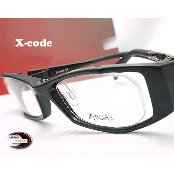 【メガネ通販】X-Code Eyewear エアロフレーム Black 超弾力性新素材 フルリム眼鏡  《今だけ送料無料》