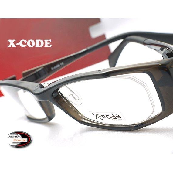 【メガネ通販】X-Code Eyewear エアロフレーム DarkGray 超弾力性新素材 フルリム眼鏡  《今だけ送料無料》