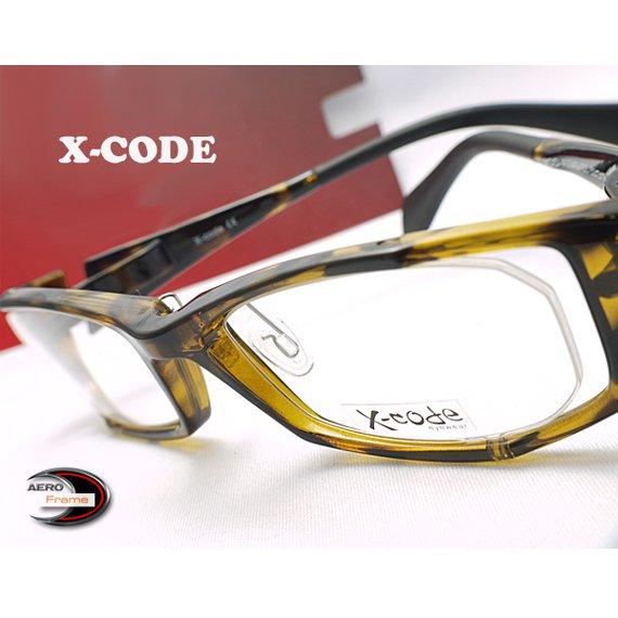 【メガネ通販】X-Code Eyewear エアロフレーム 虎柄色 超弾力性新素材 フルリム眼鏡  《今だけ送料無料》