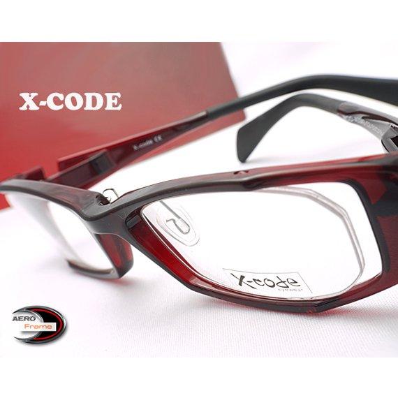 【メガネ通販】X-Code Eyewear エアロフレーム WineRed 超弾力性新素材 フルリム眼鏡  《今だけ送料無料》