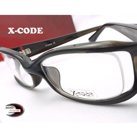 【メガネ通販】X-Code Eyewear エアロフレーム D.Gray 超弾力性新素材 フルリム眼鏡  《今だけ送料無料》