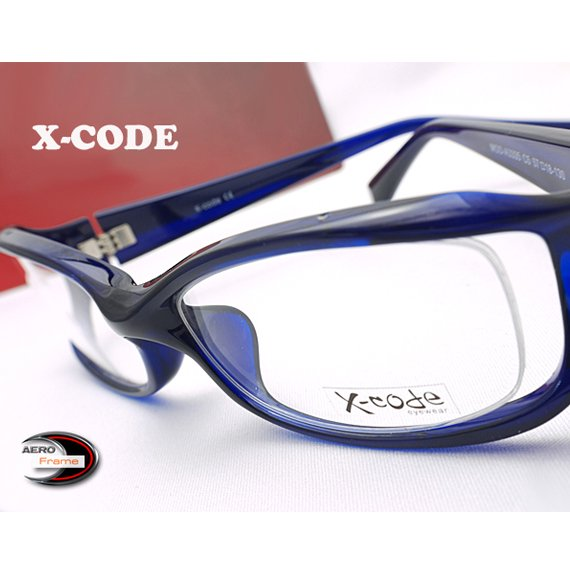 【メガネ通販】X-Code Eyewear エアロフレーム Blue 超弾力性新素材 フルリム眼鏡  《今だけ送料無料》
