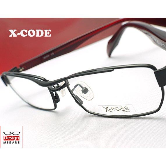 【メガネ通販】X-code Eyewear フルリム Black ダブルブリッジ 眼鏡一式 《今だけ送料無料》