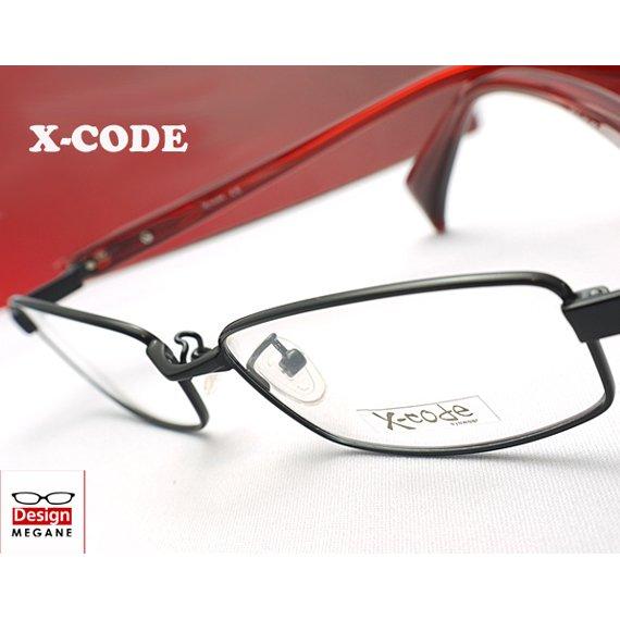 【メガネ通販】X-code Eyewear フルリム Black メタル×セル 眼鏡一式 《今だけ送料無料》