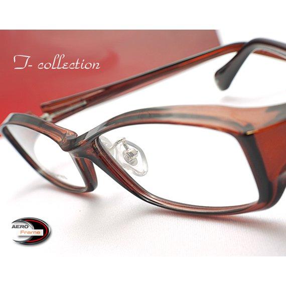 【メガネ通販】T-Collection Eyewear エアロフレーム Brown 超弾力性新素材TR90 フルリム眼鏡  《今だけ送料無料》