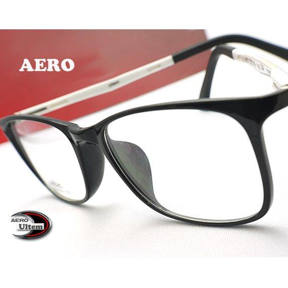 【メガネ通販】エアロウルテム AERO eyewear  Black  注目の新素材ULTEM 超タフ・超軽量《今だけ送料無料》