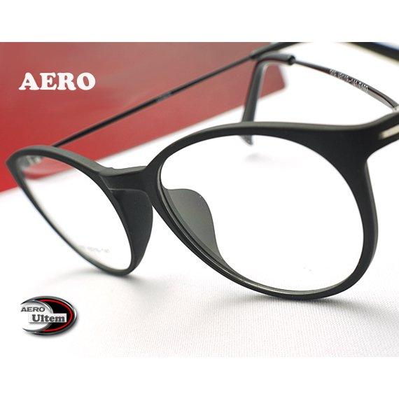 【メガネ通販】エアロウルテム AERO eyewear 丸めがね Black 注目の新素材ULTEM 超タフ・超軽量《今だけ送料無…