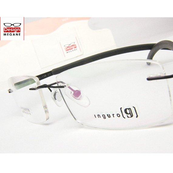 【メガネ通販】Ingro Eyewear Black ふちなし ツーポイント チタン素材 【重さ14gの軽量設計】 送料無料
