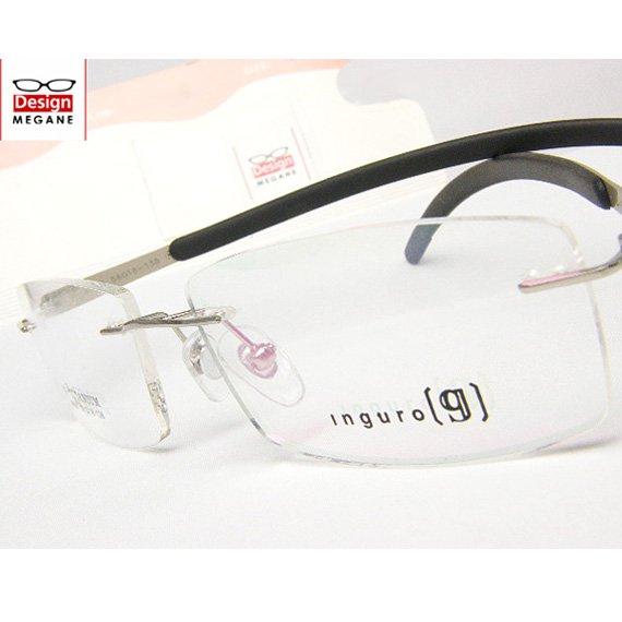 【メガネ通販】Inguro Eyewear Silver ふちなし ツーポイント チタン素材 【重さ14gの軽量設計】 送料無料
