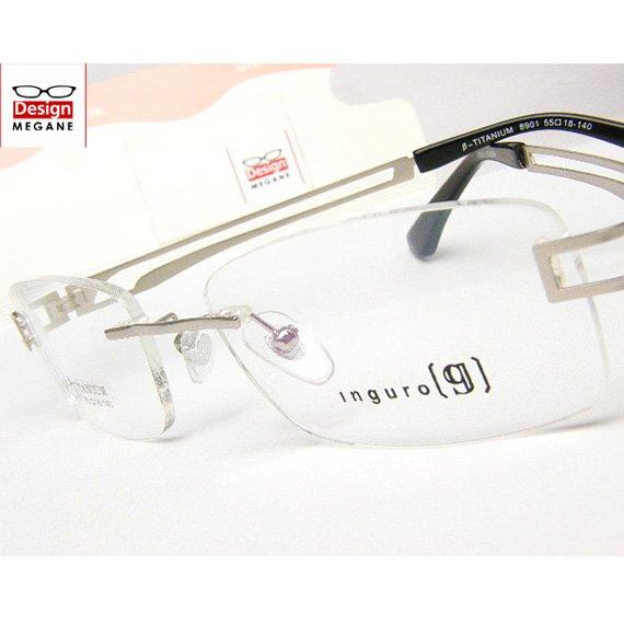 【メガネ通販】Ingro Eyewear Silver ふちなし ツーポイント チタン素材 【重さ14gの軽量設計】 送料無料