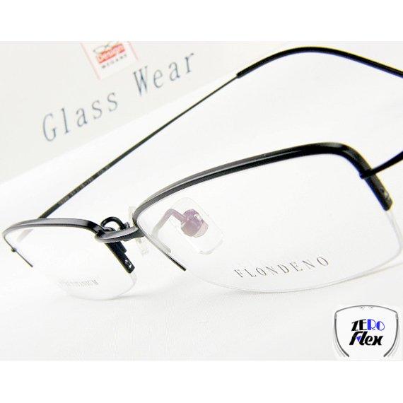 【メガネ通販】 ゼロフレックス βチタニウム素材  black 【驚きの4g超軽量設計】 眼鏡一式 《送料無料》