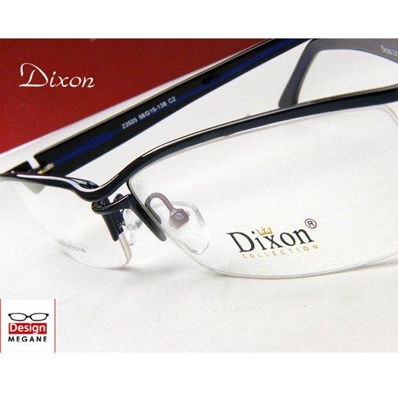 【メガネ通販】Dixon Collection Eyewear ハーフリム D.blue ダブルブリッジ 眼鏡一式 《今だけ送料無料》