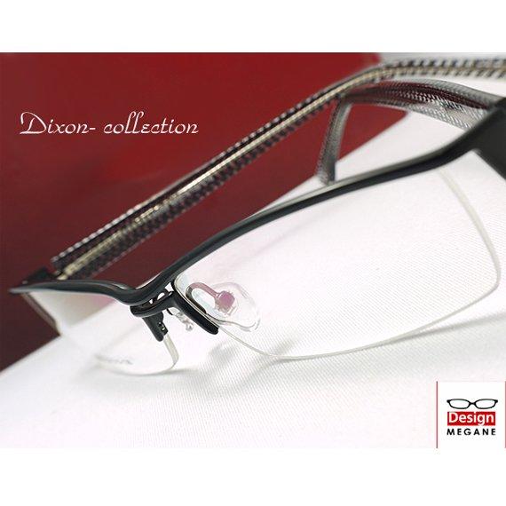 【メガネ通販】Dixon Collection Eyewear ハーフリム Black ダブルブリッジ 眼鏡一式 《今だけ送料無料》
