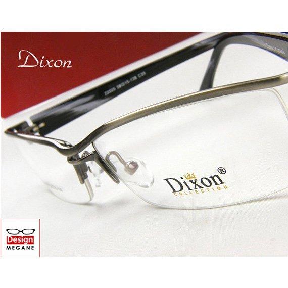 【メガネ通販】Dixon Collection Eyewear ハーフリム Gun ダブルブリッジ 眼鏡一式 《今だけ送料無料》