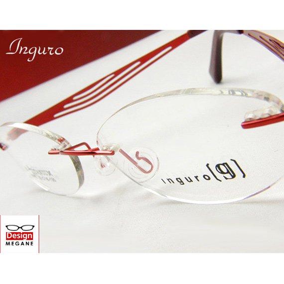 【メガネ通販】Inguro Eyewear Red ふちなし ツーポイント チタン素材 【重さ14gの軽量設計】 送料無料