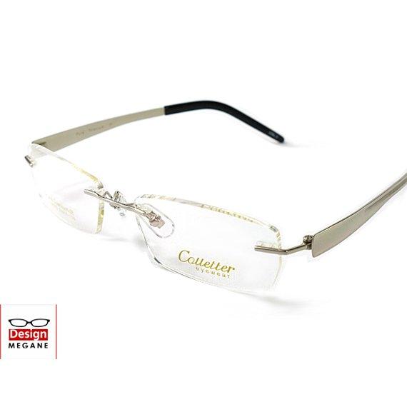 【メガネ通販】Calletter Eyewear Silver ふちなし眼鏡 チタン素材 【重さ15gの軽量設計】 送料無料