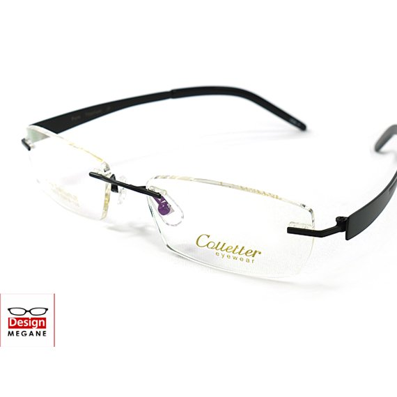 【メガネ通販】Calletter Eyewear Black ふちなし眼鏡 チタン素材 【重さ15gの軽量設計】 送料無料