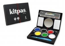 キットパスASOBody 固形水性絵の具6色+ミラー+水筆+スポンジセット