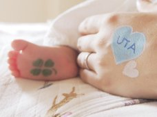 【セール】赤ちゃんペイント・マタニティペイント・フェイス&ボディペイント用ステンシルシート☆5種