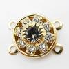 11.5mm・クリスタル×ブラックダイアモンド(4ループ)