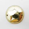10mm・スパンコールチャーム(ゴールド・2ホール)