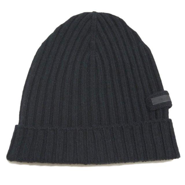 プラダ ウール100% リヴニット帽子 ...