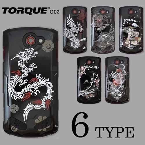 TOROUE G02 ケースカバー 黒地 和柄 スマートフォンケース
