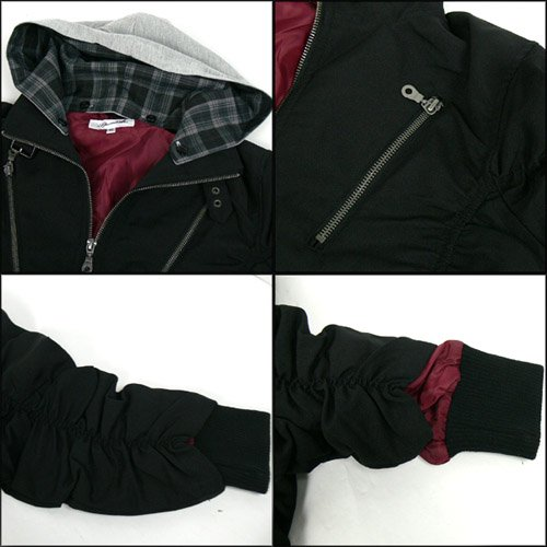 SPINASH フード付シャーリングジャケット