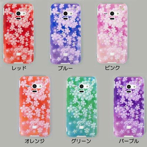 98ec59af33 AQUOS PHONE SERIE SHL22 ケースカバー 桜柄 スマートフォンケース au ...