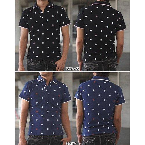Bluegill ワンポイントドット鹿の子ポロシャツ