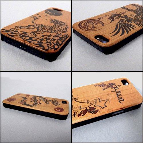 iPhone5/5s ウッドケースカバー 和柄 アイフォン5 スマートフォンケース