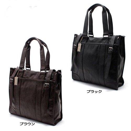【送料無料】CruX Original フェイクレザーベルトデザイントートバッグ
