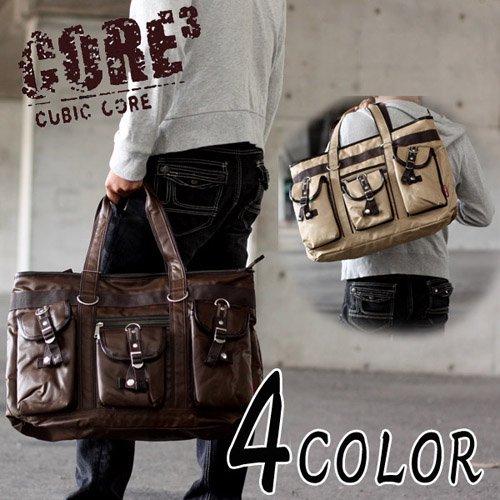 CUBIC CORE ステッチデザイン 3ポケットトートバッグ 1e30