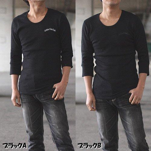 Tongs ワッフル七分袖Tシャツ