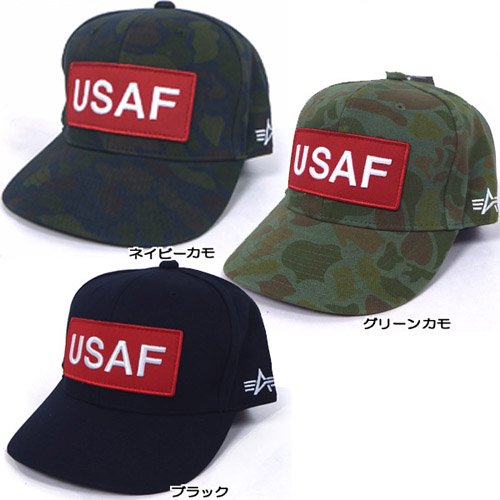 ALPHA INDUSTRIES INC.USAFワッペンキャップ