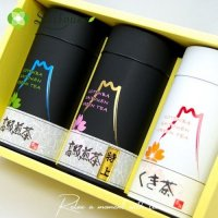 【A-3】 斉藤園オリジナル 高級煎茶特上1本 /高級煎茶1本/ くき茶1本詰合せ