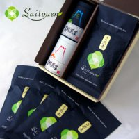 【O-3】斉藤園オリジナル 高級煎茶100g缶入2本&100g×4袋セット